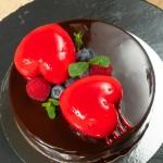 Торт Шоколадный два сердца