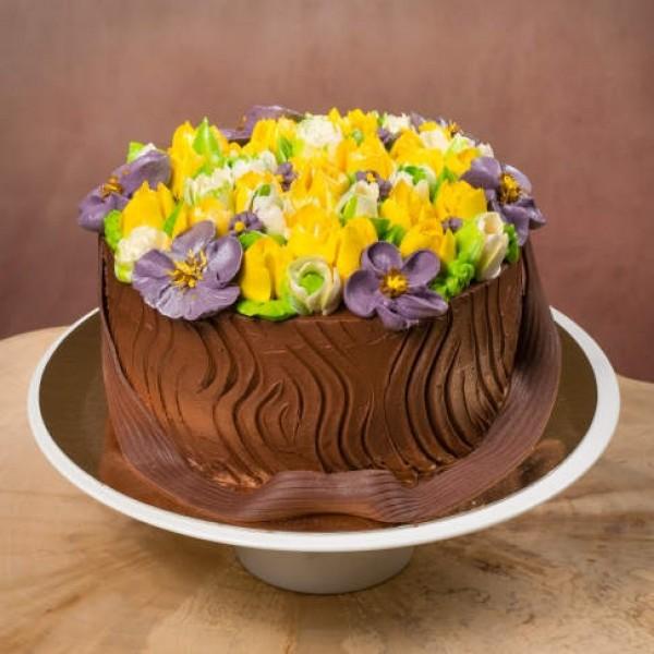 Торт Цветочная корзинка