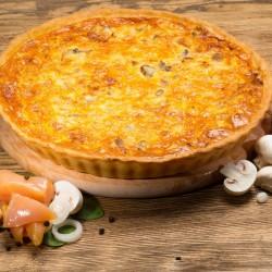 Пирог лоранский с курицей и грибами