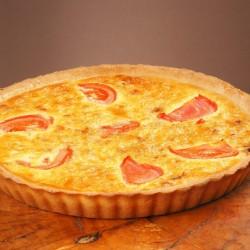 Пирог лоранский с мясом и помидором