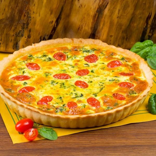 Пирог лоранский со шпинатом