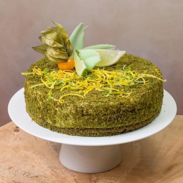 Торт Чайный Матча с лаймом и мятой