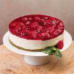 Торт Чайный Матча с малиной