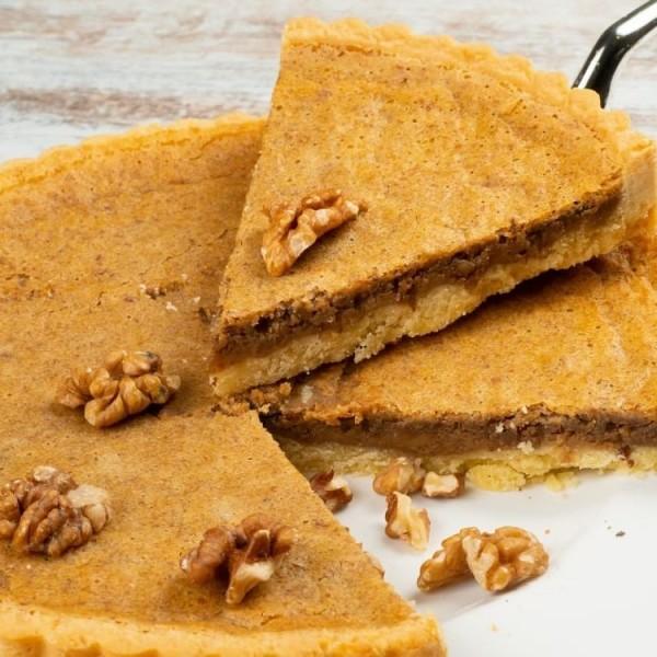 Тарт песочный с ореховой начинкой (грецкий орех)