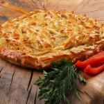 Пирог дрожжевой с курицей и болгарским перцем