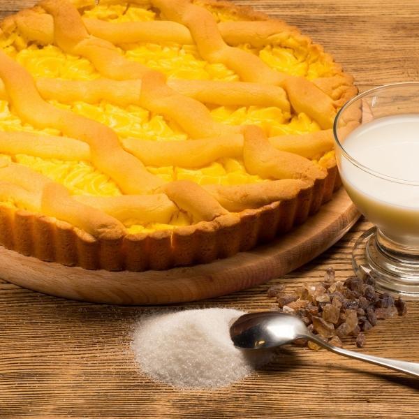 Пирог из песочного теста с заварным кремом