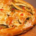 Пирог дрожжевой с капустой и грибами
