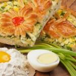 Пирог дрожжевой с яйцом и луком