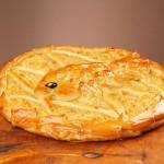 Пирог дрожжевой с треской и карри