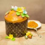 Кулич с персиком и маракуей