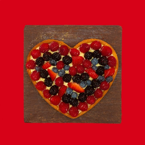 Тарт Сердце с ягодами