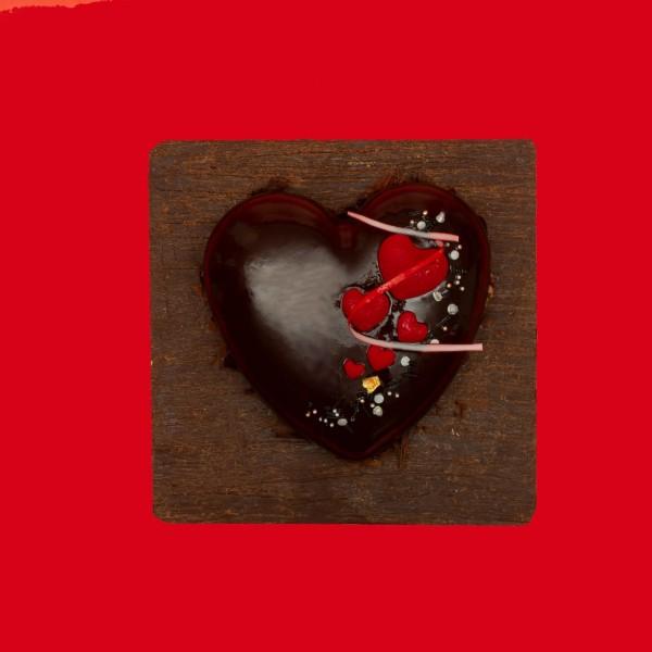 Торт сердце Шоколадная любовь