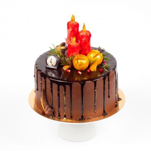 Торт новогодний СВЕЧИ